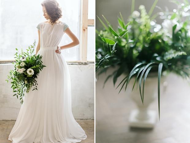 zwiewna suknie ślubna